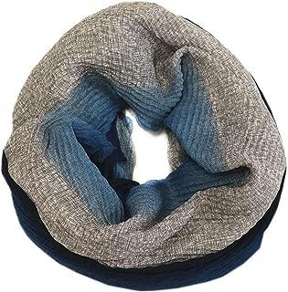Damen Schal Tuch Gelb Grau Falten Muster Plissee Stola Rechteck Schal SH-8912