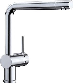 BLANCO LINUS - Moderne Küchenarmatur mit hohem Auslauf - Niederdruck - Edelstahl finish - 514022