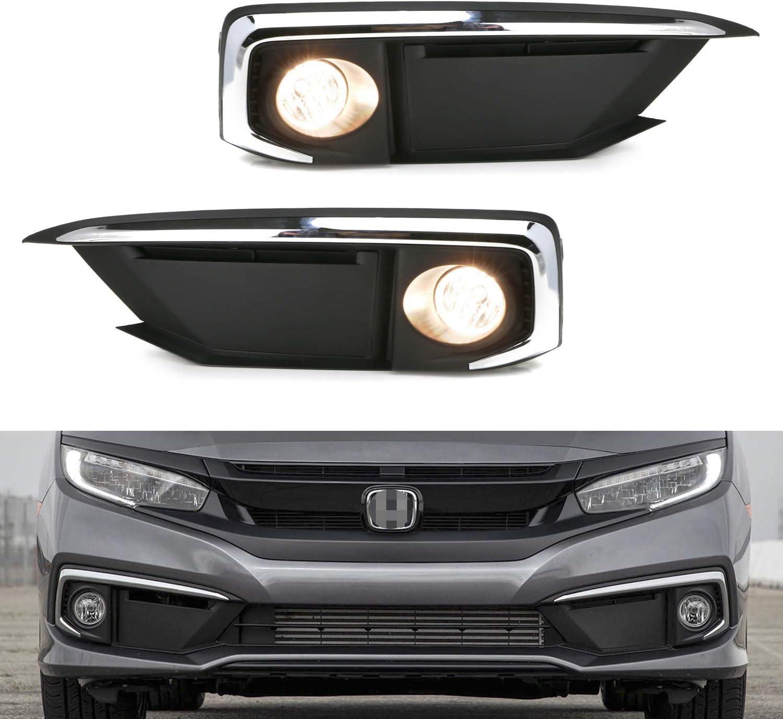 iJDMTOY OEM-Spec Complete Clear trust Lens Lights Fog Lowest price challenge Halogen Kit with