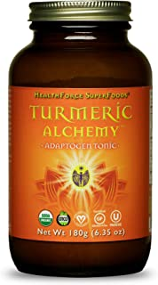 HealthForce SuperFoods Turmeric Alchemy - 180 Grams - Superfood Adaptogen Tonic - Golden Milk & Curcumin Blend - Supports Energy, Endurance & Vitality - Organic, Vegan, Gluten Free - 60 Servings