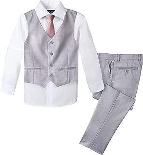 Spring Notion Boys' Formal 4-Piece Set, Light Grey