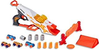 NERF Nitro - Double Clutch Inferno - Dual Barrel Blaster - inc Cars & Obstacles - Kids Toys - Ages 5+