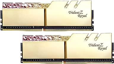 G.SKILL Trident Z Royal Series Gold 32GB (2 x 16GB) 288-Pin RGB DDR4 3000 (PC4 24000) DIMM F4-3000C16D-32GTRG
