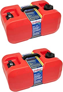 Scepter EPA CARB Under The Seat Portable Fuel Gas Container, 6 Gallon (2 Pack)