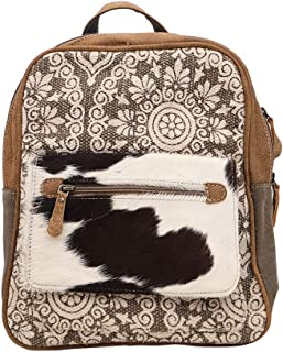 Myra Bag Clique Upcycled Canvas & Cowhide Backpack S-1446