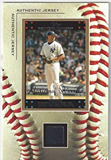 Mariano Rivera Authentic Jersey Worn Oversized Collectible Baseball Card and Jersey Swatch - Vintage Sportcards (New York Yankees) Free Shipping