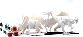ViiPlay Art Series - Dinosaur Paint and Play Set - 3 Assorted 3D Large paintable Dinosaurs
