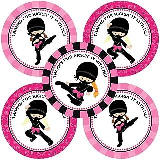 Ninja Girl Party Gracias etiquetas Adhesivas - Regalos de ...