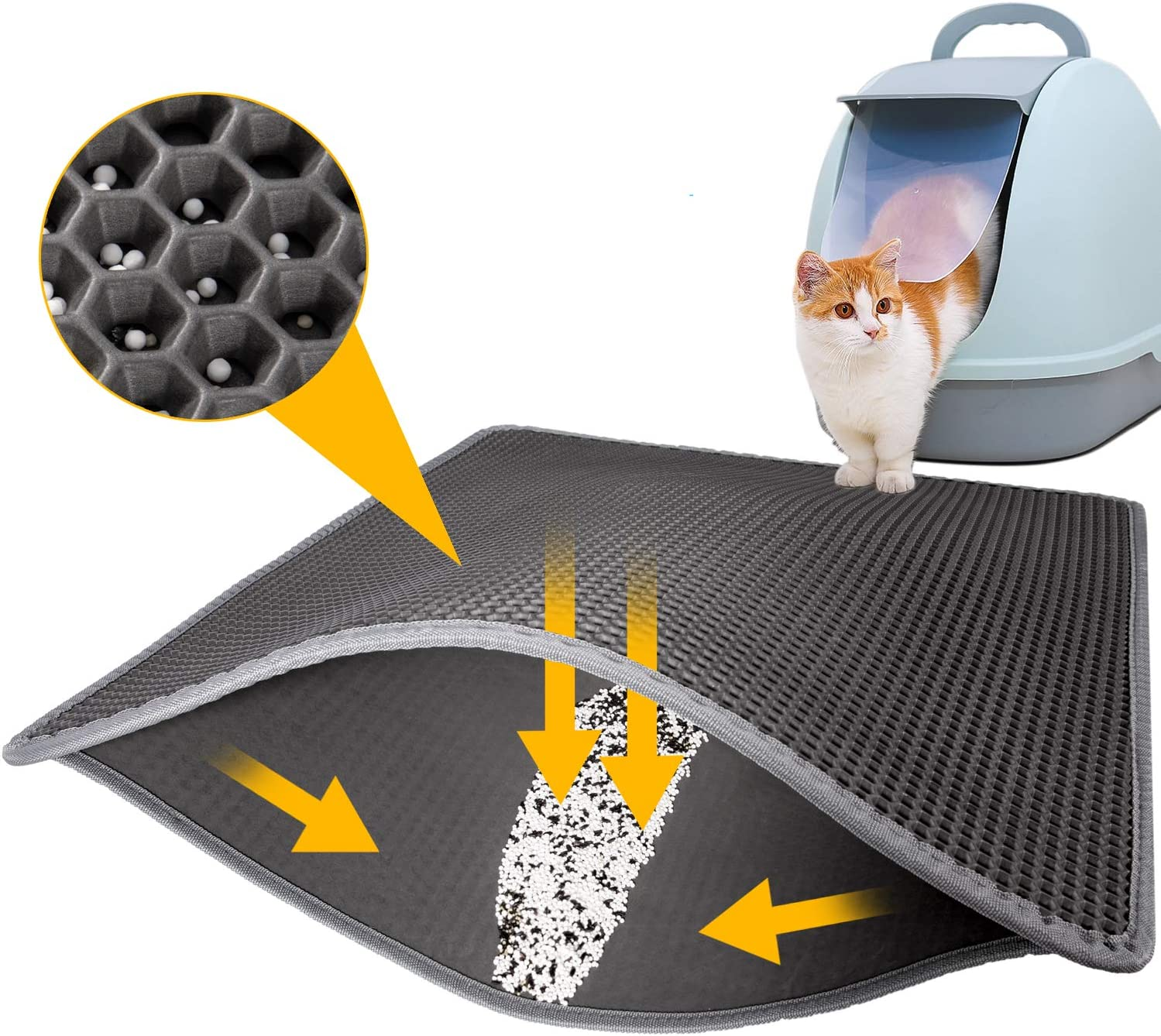 LeToo Cat Litter Mat Trapping Box Super No-Toxic 5 ☆ popular Japan's largest assortment S for