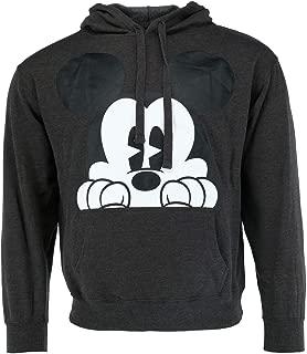 Mickey Mouse Peaking Grey Men's Hoodie