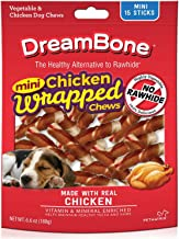 DreamBone Chicken Wrapped Sticks Dog Chews, Mini, 15 Count, 24 Pack
