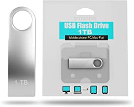SCORDERS USB Flash Drive (1 TB) High-Speed Data Storage Thumb Stick | Store Movies, Pictures, Documents | PC, Smartphone, Mac Support (Silver) (Blue)