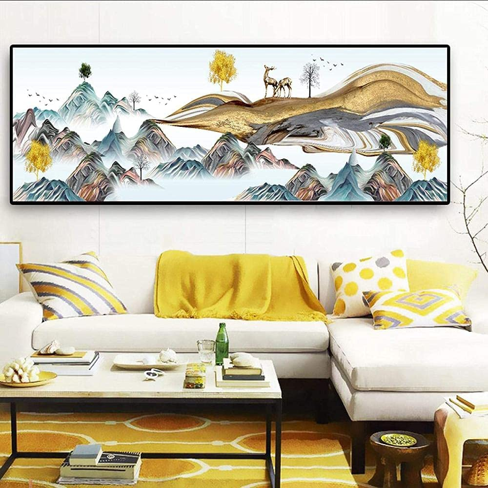 ZGWEI Modern Canvas Paintings Landscape Posters Free shipping on posting reviews Prints Max 66% OFF Abstract