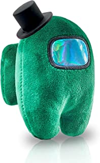 Stuffed Plush Plushie,Among us Plush Toy Action Game Figures Soft Doll 4.3 inch with BB Sound, Specially and Amazing Gift Designed for Game Fans, Multi-Colored (Sea Green)