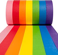 Craftzilla Colored Masking Tape - 7 Pack of 20 Yards x 1 inch Multi Color Rolls - Art and Crafts Colorful Set of Paper Tap...