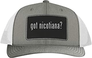 One Legging it Around got Nicotiana? - Leather Black Patch Engraved Trucker Hat