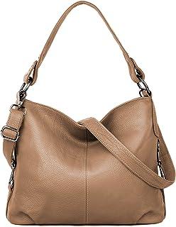 YALUXE Handtasche Damen stilvoll aus Echtleder Crossbody Tasche Tote