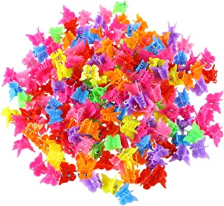 Toyvian 200PCS Baby Girl Mini Hair Claws Clips Plastic Hair Clamps for Girls and Women