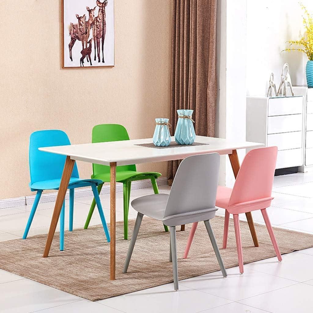LF Chaise de Salle, Chaise de Bureau Simple, créative Dossier, Chaise Loisirs, Maison Adulte Chaise de Salle Simple (Color : Black) Blue