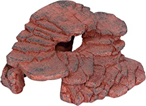 Trademark Innovations Aquarium Tiered Ledge Rock Formation Hideout Habitat for Fish, and Reptiles