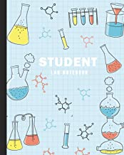 Student Lab Notebook: Laboratory Record Graph Paper Notebook   Biology College, High School Chemistry, Scientific   Science Lab Journal