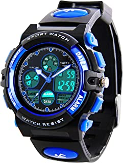 Kids Sports Digital Watch -Boys Waterproof Outdoor Analog...