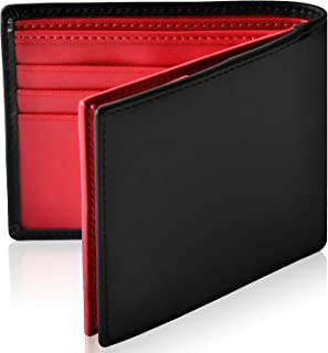 [Le sourire] スリム 二つ折り財布 本革 オールインワン 新設計のボックス型小銭入れ メンズ