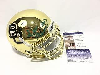 Seth Russell Autographed Signed Baylor Bears Gold Chrome Mini Helmet JSA COA