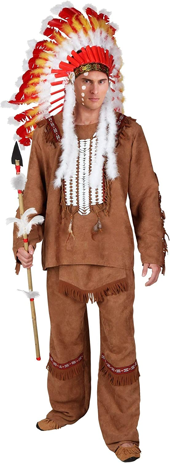 Free shipping anywhere in the nation Deluxe Men's Be super welcome Native American Costume