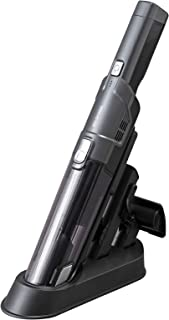 アイリスオーヤマ 掃除機 コードレス ハンディ クリーナー 車用 パワフル 吸引 コンパクト 軽量 500g スタンド 充電 IC-H50-B ブラック 5.6×5.7×40.2cm