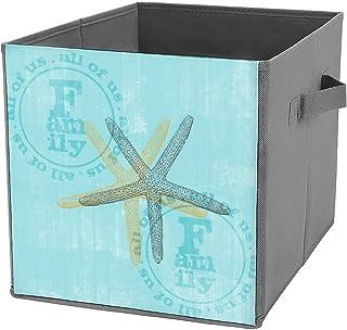 Boîte de rangement pliable en forme de cube - Organiseur de placard en tissu avec poignées - Pour la maison, le bureau, la...