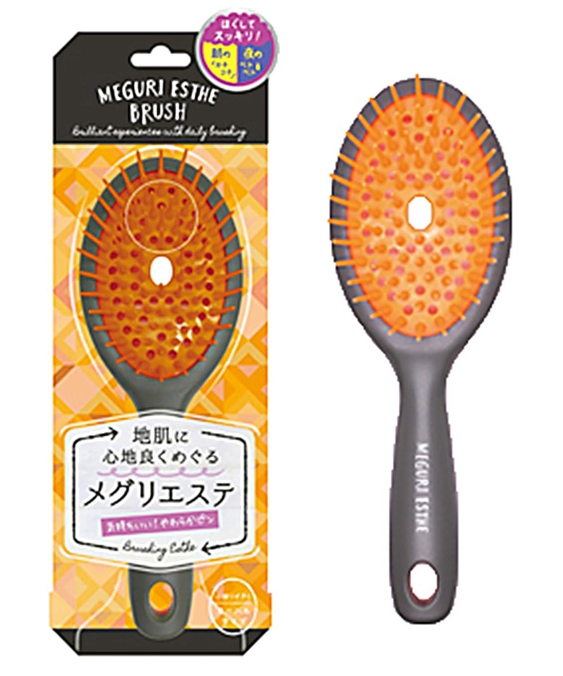 精神的にローズ後継ラッキーウィンク メグリエステブラシ オーバル(オレンジ) MEB800