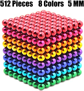 LOVEYIKOAI Upgraded 5MM 512 Pcs 8 Colors Magnets Cube Building Blocks Magnetic Toys Colorful Buildable Sculpture Office Stress Relief Toys for Adults