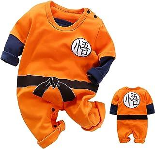 CoCokahu Nette Neugeborene Jungen Jungen Mädchen Kleidung Kleinkind Kleinkind Langarm Strampler Jumpsuit Outfits Orange,9-12 Months