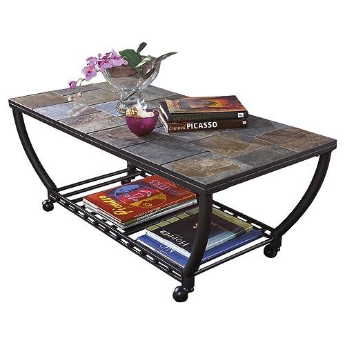 Remarkable Slate Coffee Tables Amazon Com Beatyapartments Chair Design Images Beatyapartmentscom
