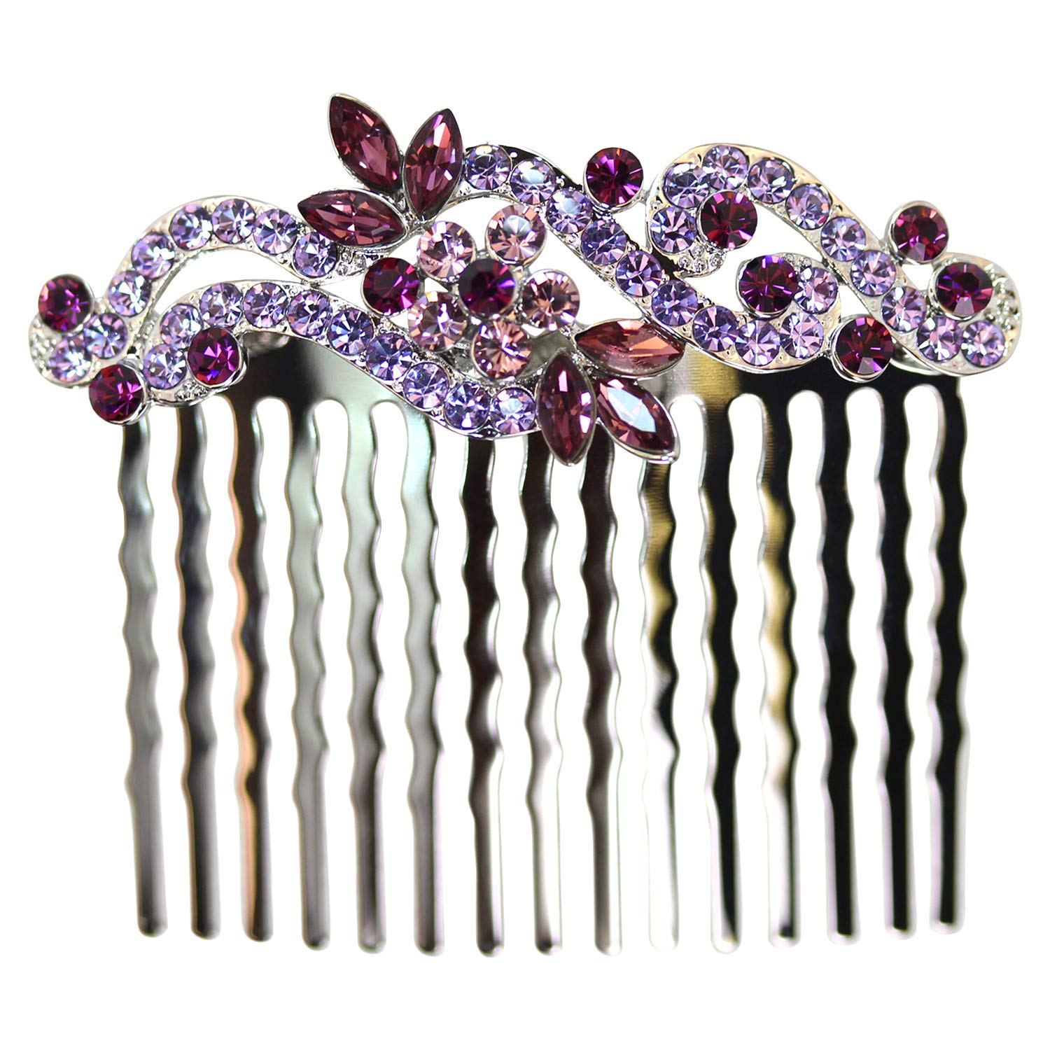 Award Faship Gorgeous Discount is also underway Purple Rhinestone Comb Floral Crystal Hair
