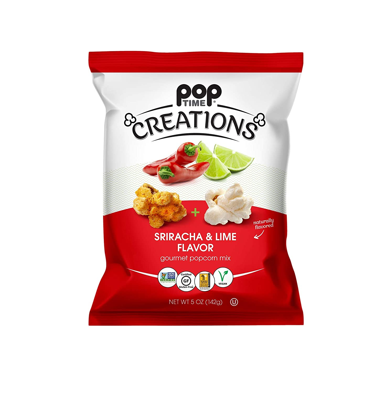 Poptime Creations Popcorn - Sriracha Bags Pack 5oz Lime Genuine Free Shipping 6 Daily bargain sale