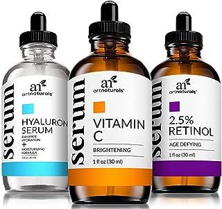 Art Naturals Serum Trio Set - Vitamin C Serum, Retinol Serum, Hyaluronic Acid (3X30ML)