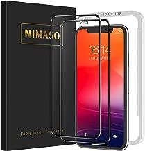 【2枚セット】Nimaso iPhone11 Pro Max / Xs Max 用 全面保護フィルム液晶強化ガラス 【ガイド枠付き】【日本製素材旭硝子製】(アイフォン 11 Pro Max / Xs Max 用)
