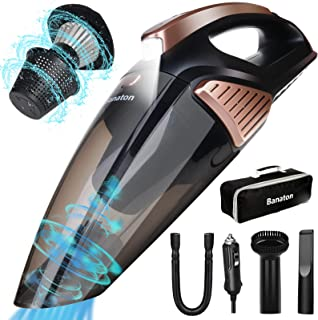 Banaton Car Vacuum Cleaner 7000PA 106W 12V Car Vacuum with LED Light Low Noise Wet and Dry Use Auto Vacuum Cleaner with 1...