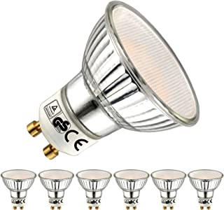 EACLL Bombillas LED GU10 2700K Blanco Cálido 5W 450 Lúmenes Equivalente 50W Halógena. 120 ° Luz Blanca Cálida Lámpara Reflectoras Spotlight LED, 6 Pack