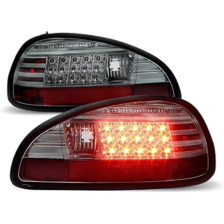 Black Housing Smoke Lens 2004-2008 Pontiac Grand Prix LED Tube Tail Lights Lamps