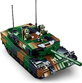Sluban Leopard 2A5 Main Battle Tank Building Blocks Toy, 2 in 1 Educational Learning Construction Toys Set for Kids Boys G...