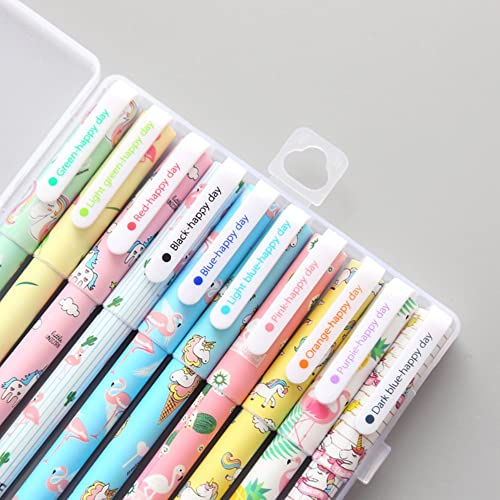 10 Pcs Unicorn Flamingo Gel Pens Set,Fine Point (0.5mm), 10