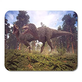 NA Alfombrillas de ratón representación 3D Antigua de Tyrannosaurus Rex Pareja de apareamiento Alfombrilla de ratón para ...