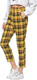Best yellow plaid pants Reviews