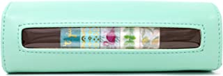 Miss Pettigrew Washi Wallet - Chic Washi Tape Organizer and Storage – Tropical Flamingo Set of 7 Washi Tapes Included - Must Have Happy Planner Accessories, Pencil Pouch, or Travel Makeup Bag