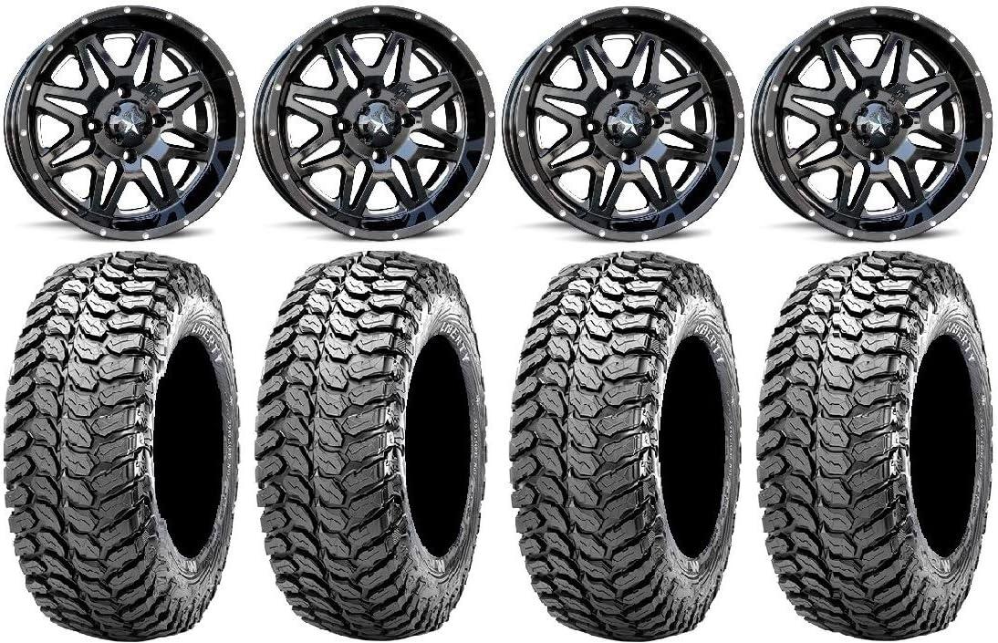 New arrival Bundle Max 88% OFF - 9 Items: MSA Black Vibe ATV Wheels Tire 14