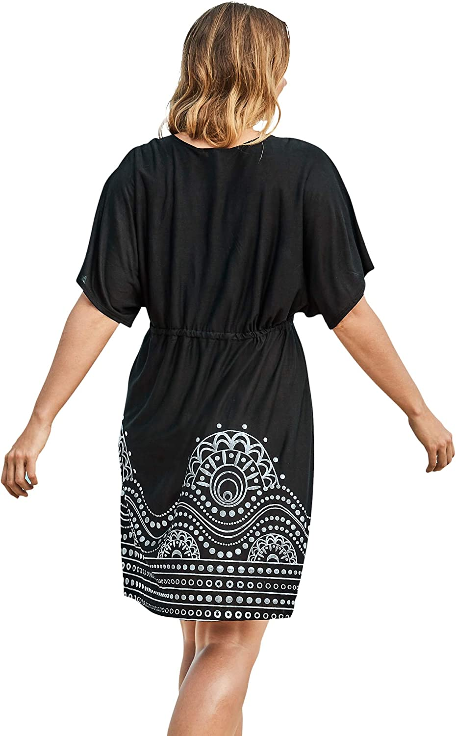 Swimsuits For All Women's Plus Size Kate V-Neck Cover Up Dress