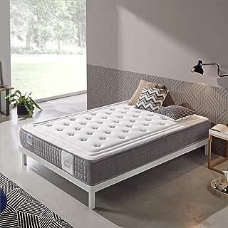 Dreaming Kamahaus | Colchón Platinum Visco Spring | Plancha ViscoGrafeno con Gel frío | Núcleo SpringBox | 105 x 190 cm | Altura 24 cm